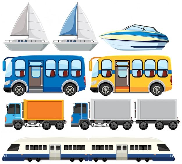 Set van modern vervoer