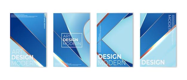 Set van moderne abstracte blauwe luxe achtergrond