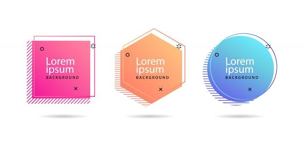 Set van moderne abstracte vector banners
