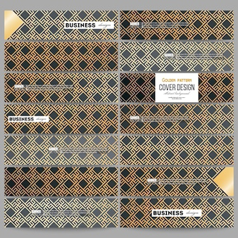 Set van moderne banners. islamitisch goudpatroon