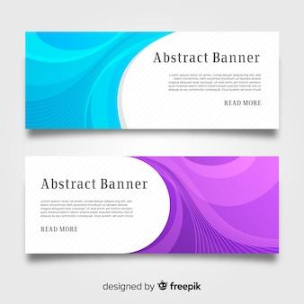Set van moderne banners met abstract ontwerp