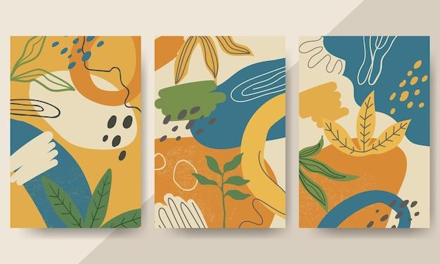 Set van moderne hand getrokken organische vormen. trendy eigentijds design
