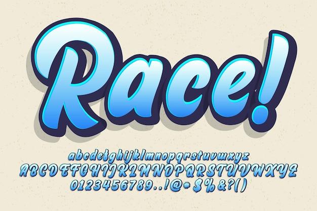 Set van moderne kalligrafie lettertype