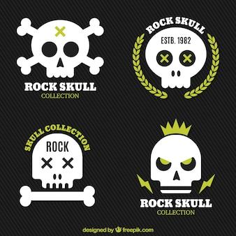 Set van moderne schedel stickers
