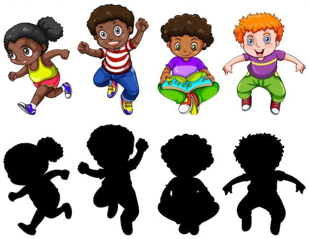Set van mollige kinderen karakter