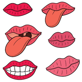 Set van mond en tong