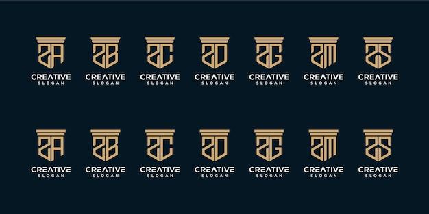 Set van monogram logo-ontwerp