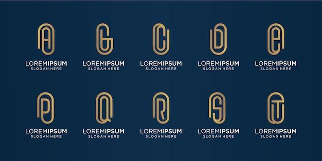 Set van monogram logo-ontwerpinspiratie. logo voor iconen business, luxe, letterlijk.