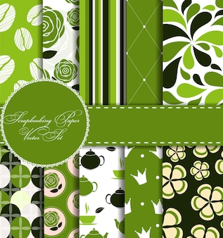 Set van mooi vectorpapier voor plakboek