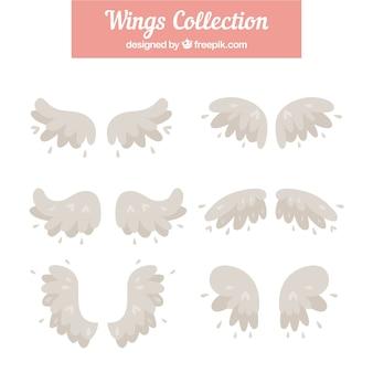 Set van mooie vintage vleugels
