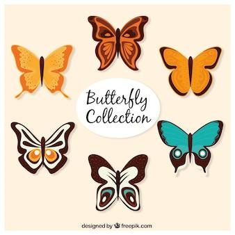 Set van mooie vlinders