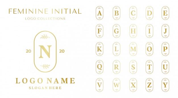 Set van mooie vrouwelijke logo sjabloon