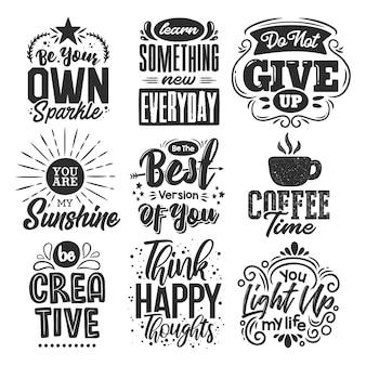 Set van motiverende citaten