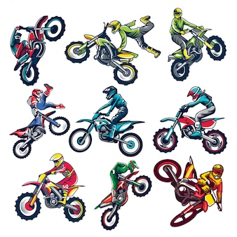 Set van motorcross