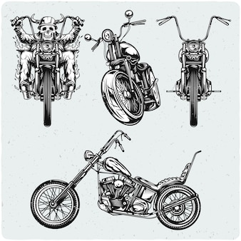 Set van motorfietsen