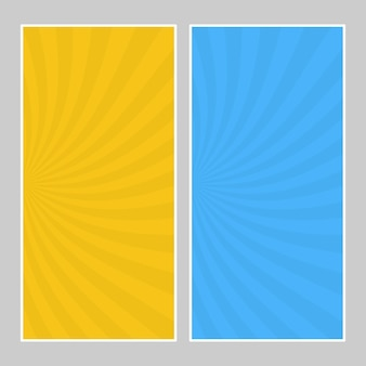 Set van multi gekleurde popart banners. halftone komische sjabloon met plaats voor uw tekst voor ontwerp. vector illustratie