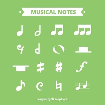 Set van muzieknoten