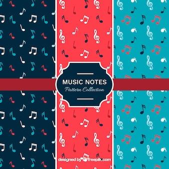 Set van muzieknotities patronen