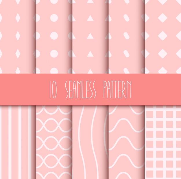 Set van naadloze geometrische patronen