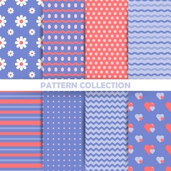Set van naadloze patronen in retro stijl
