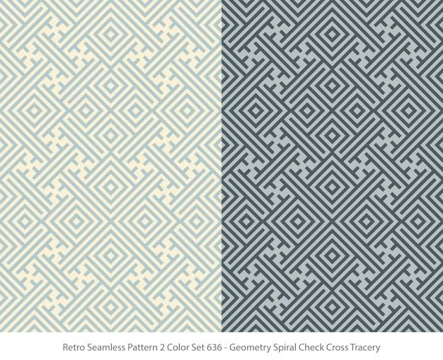 Set van naadloze patronen met geometrie maaswerk