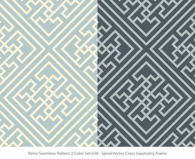 Set van naadloze patronen met vortex geometrie frame