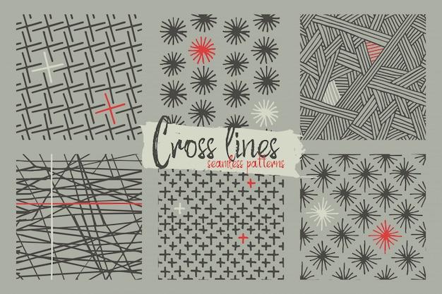 Set van naadloze patronen