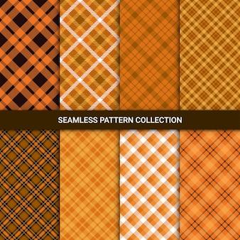 Set van naadloze patroon met tartan plaid