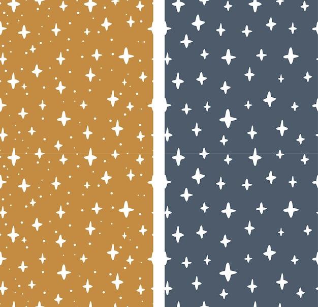 Set van naadloze patterns.stars in abstracte stijl. vector illustratie