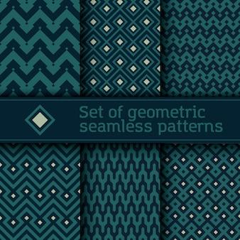 Set van naadloze vector geometrische patroon