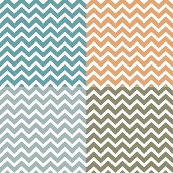 Set van naadloze zigzag (chevron) patronen