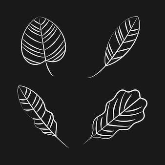 Set van natuur sieraad pictogrammen