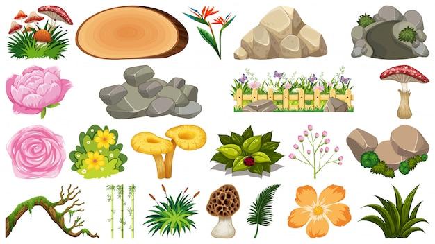 Set van natuurelementen