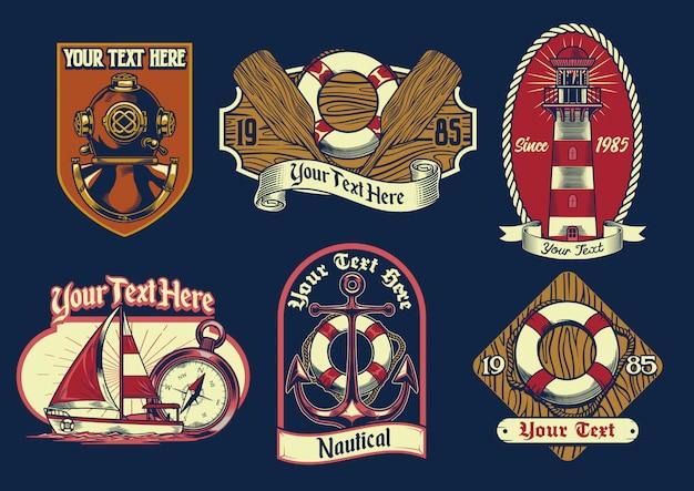 Set van nautisch insigne