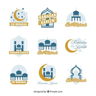 Set van negen ramadan-labels