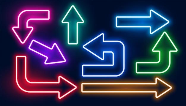 Set van negerende kleurrijke pijlen