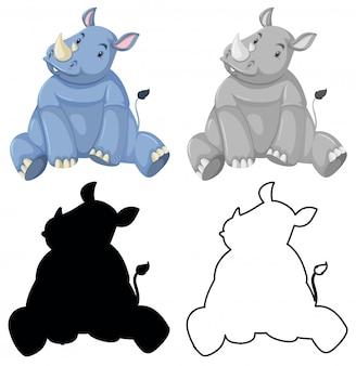 Set van neushoorns