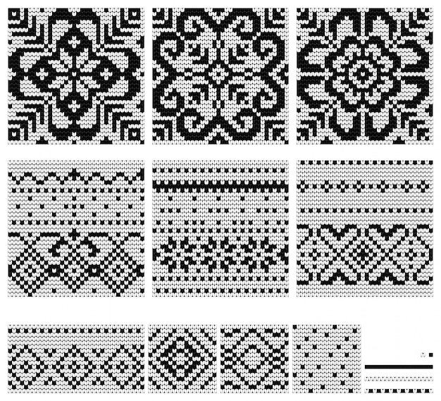 Set van noorse ster breipatronen