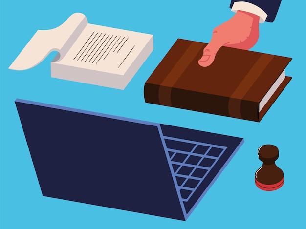 Set van notarisdiensten