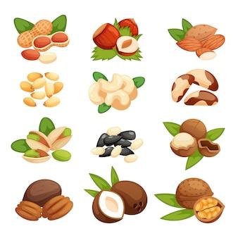 Set van noten.