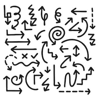 Set van nuttige pijlen