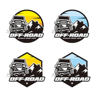 Set van off-road logo sjabloon