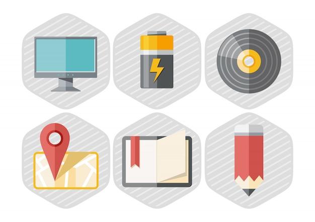 Set van office-pictogrammen