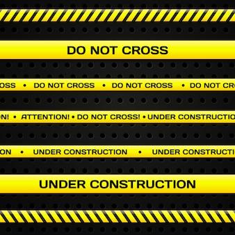 Set van onder constructie lijnen