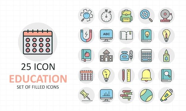 Set van onderwijs iconen