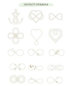 Set van oneindigheidspictogrammen