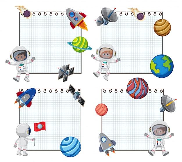 Set van opmerking ruimtethema