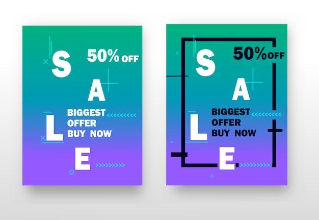 Set van opvallende webbanners om te winkelen, verkoop, productpromotie, opruiming.