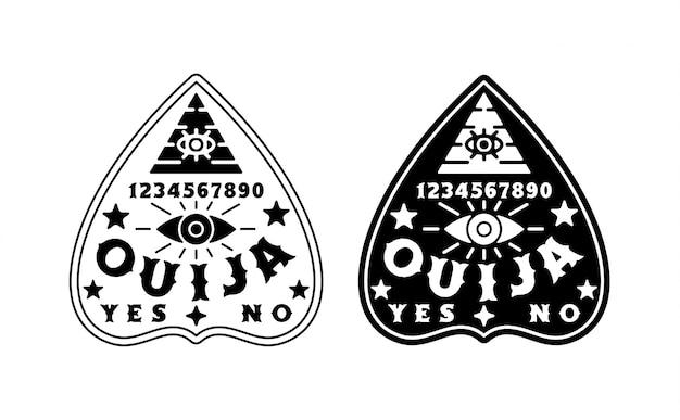 Set van ouija board illustratie