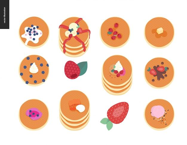 Set van pannenkoeken